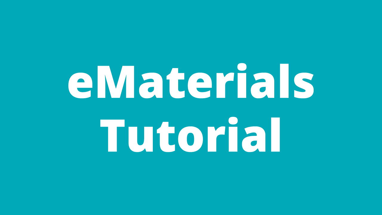 e-Materials Tutorial Video
