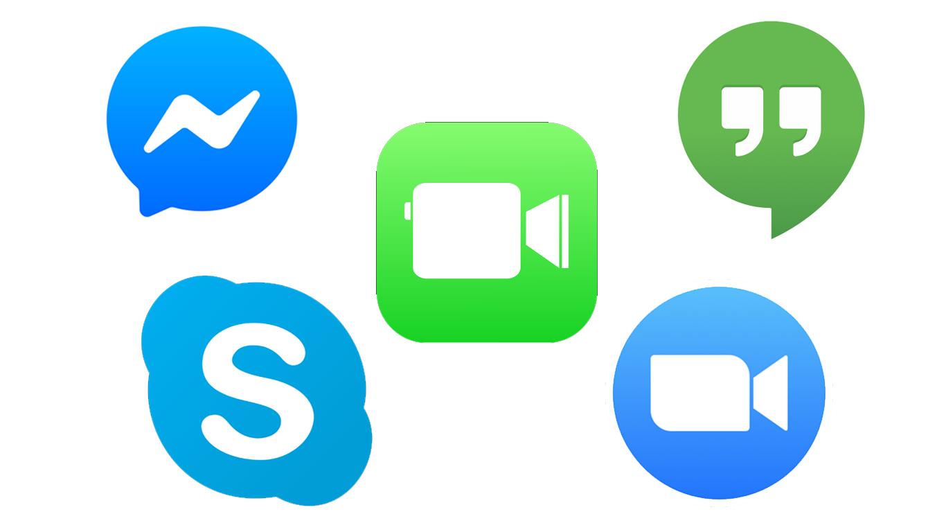 Popular video app logos
