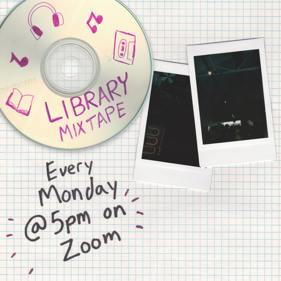 library mixtape graphic